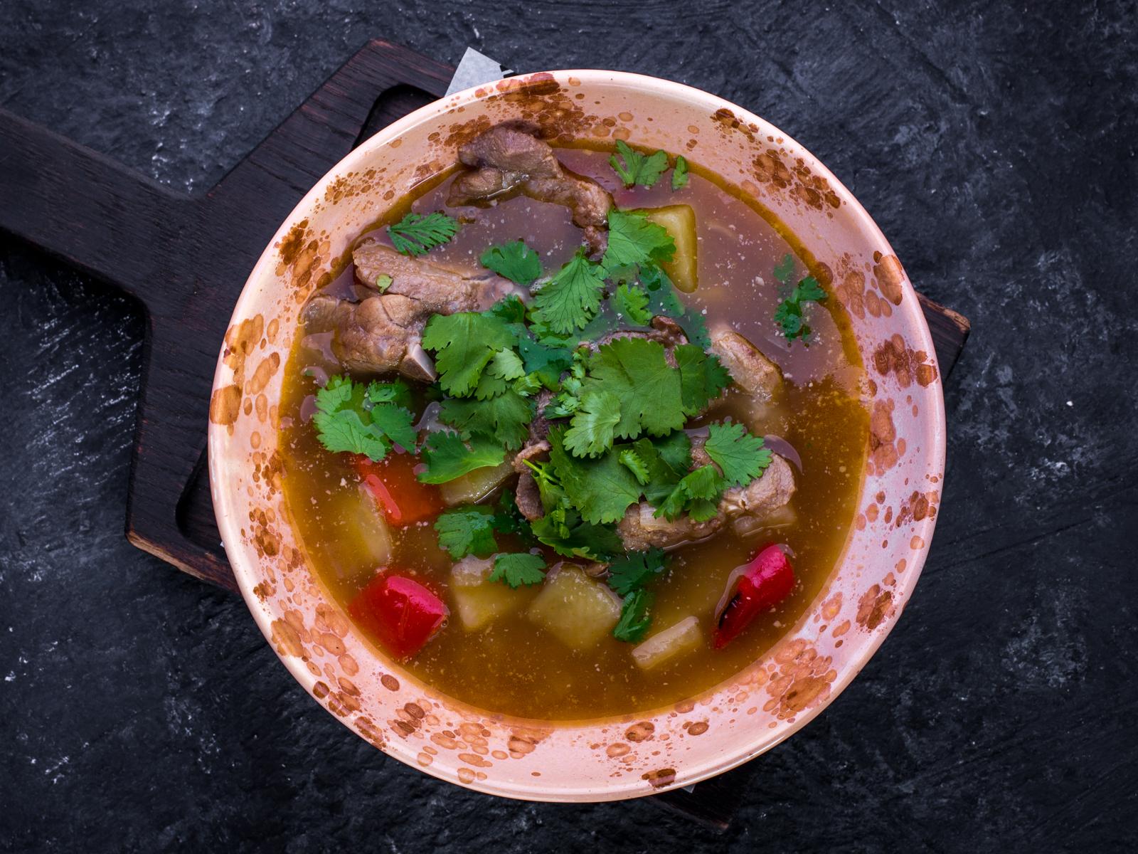 Густой суп из баранины