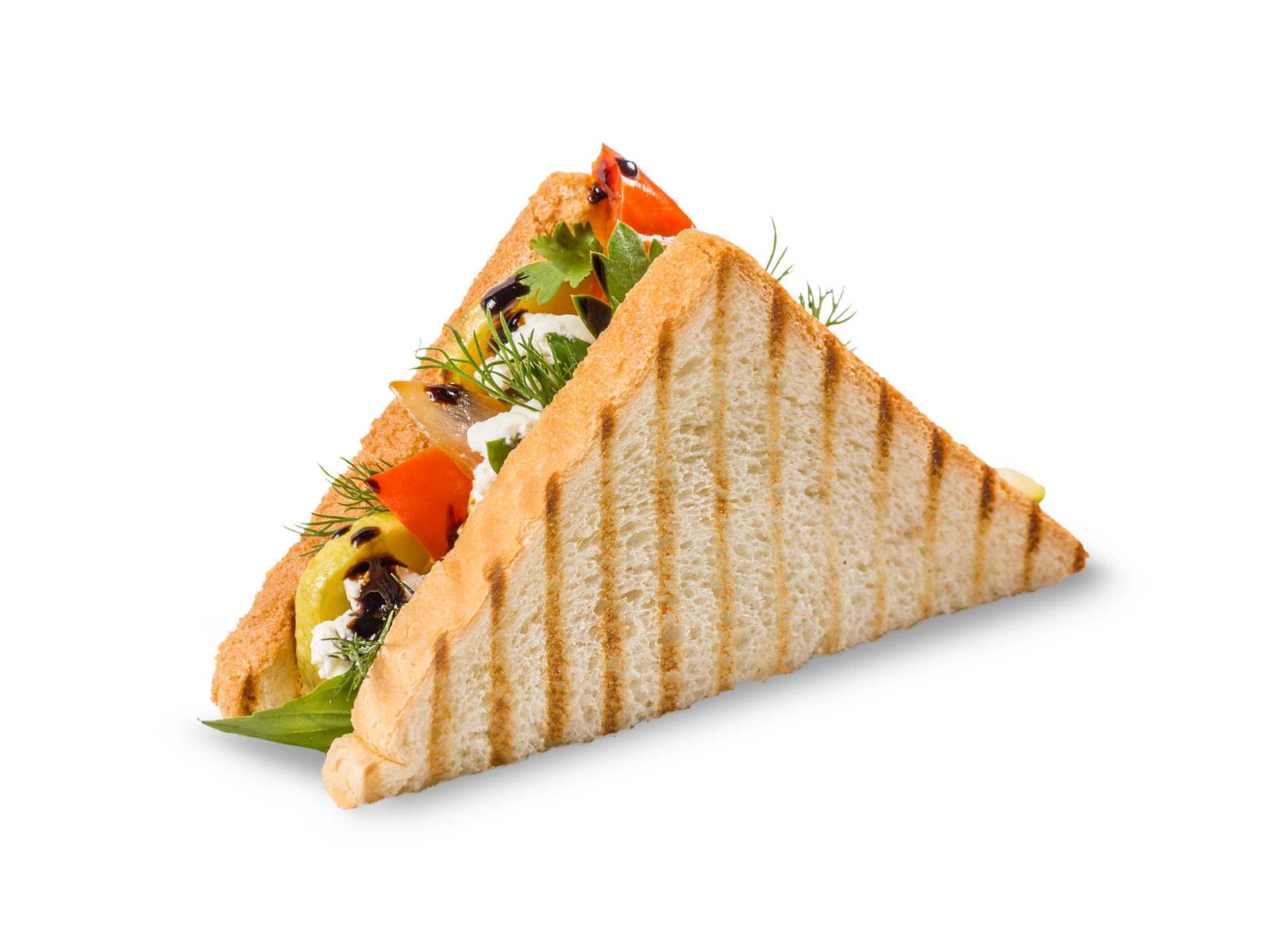 Сэндвич с печеными овощами
