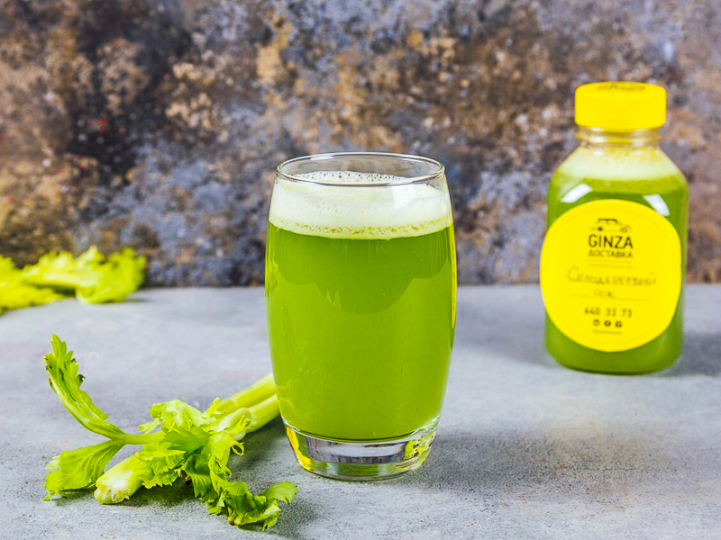Свежевыжатый сок из сельдерея