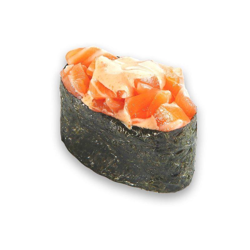 Гункан Острый лосось