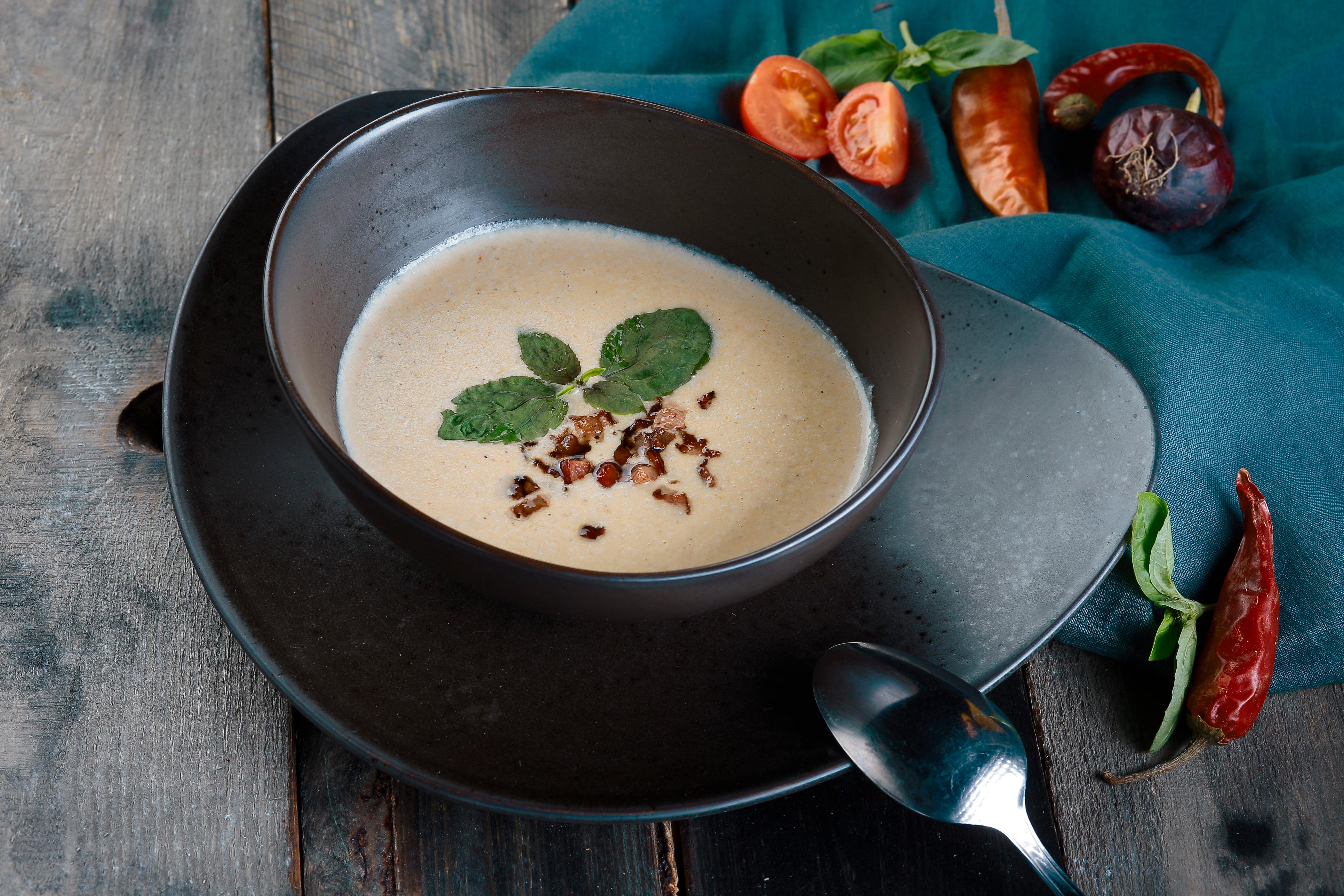 Суп картофельный с беконом