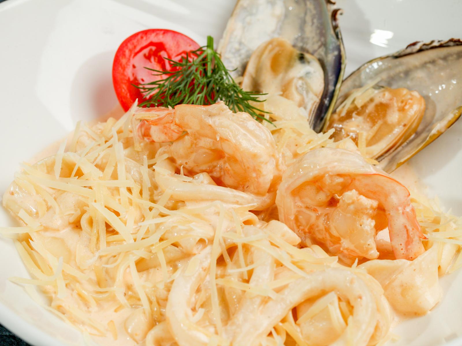 Фетучини с морепродуктами