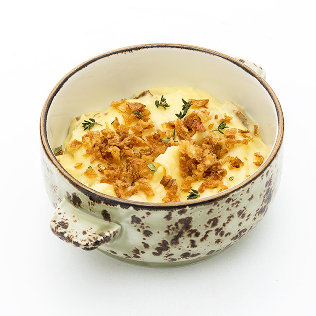 Картофельное пюре с белыми грибами