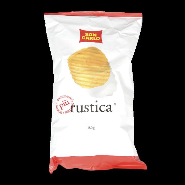 Чипсы картофельные SAN CARLO Rustica рифленые с морской солью Италия