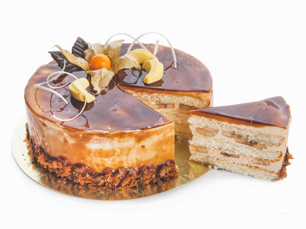 Торт Карамельно-банановый