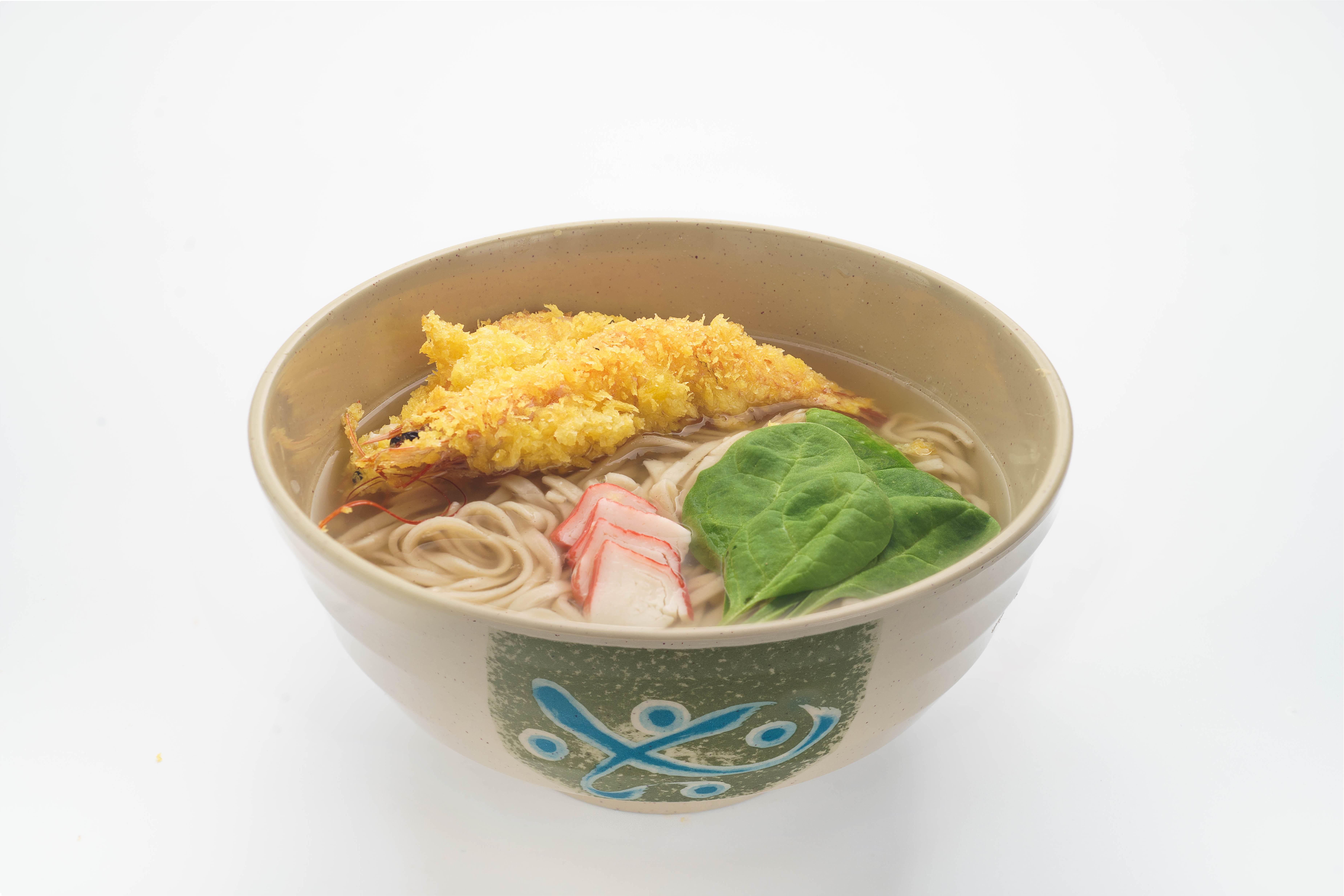 Суп Соба с креветками Темпура