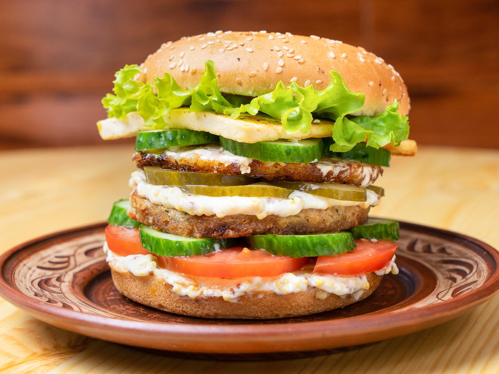 Максбургер веганский