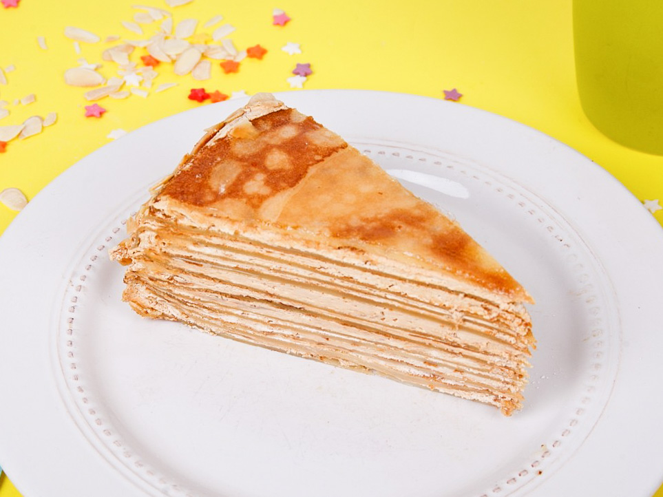 Торт Блинный со сгущенкой