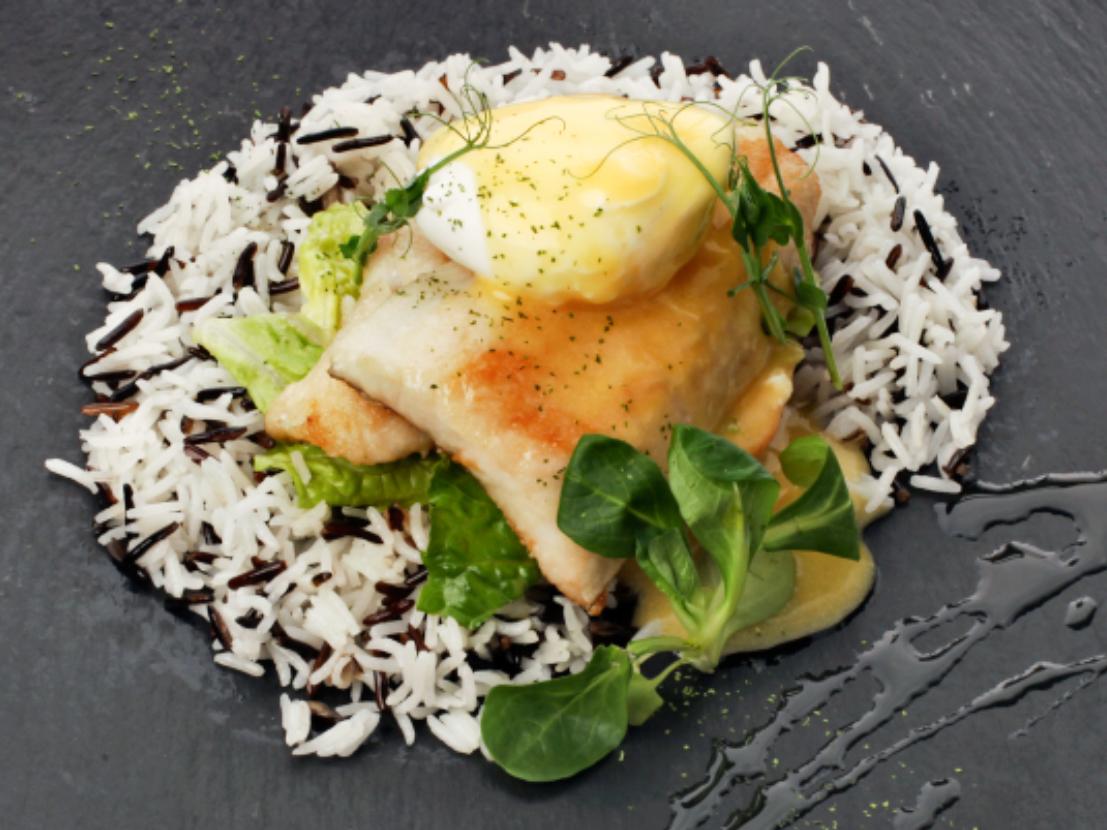 Филе судака с рисом