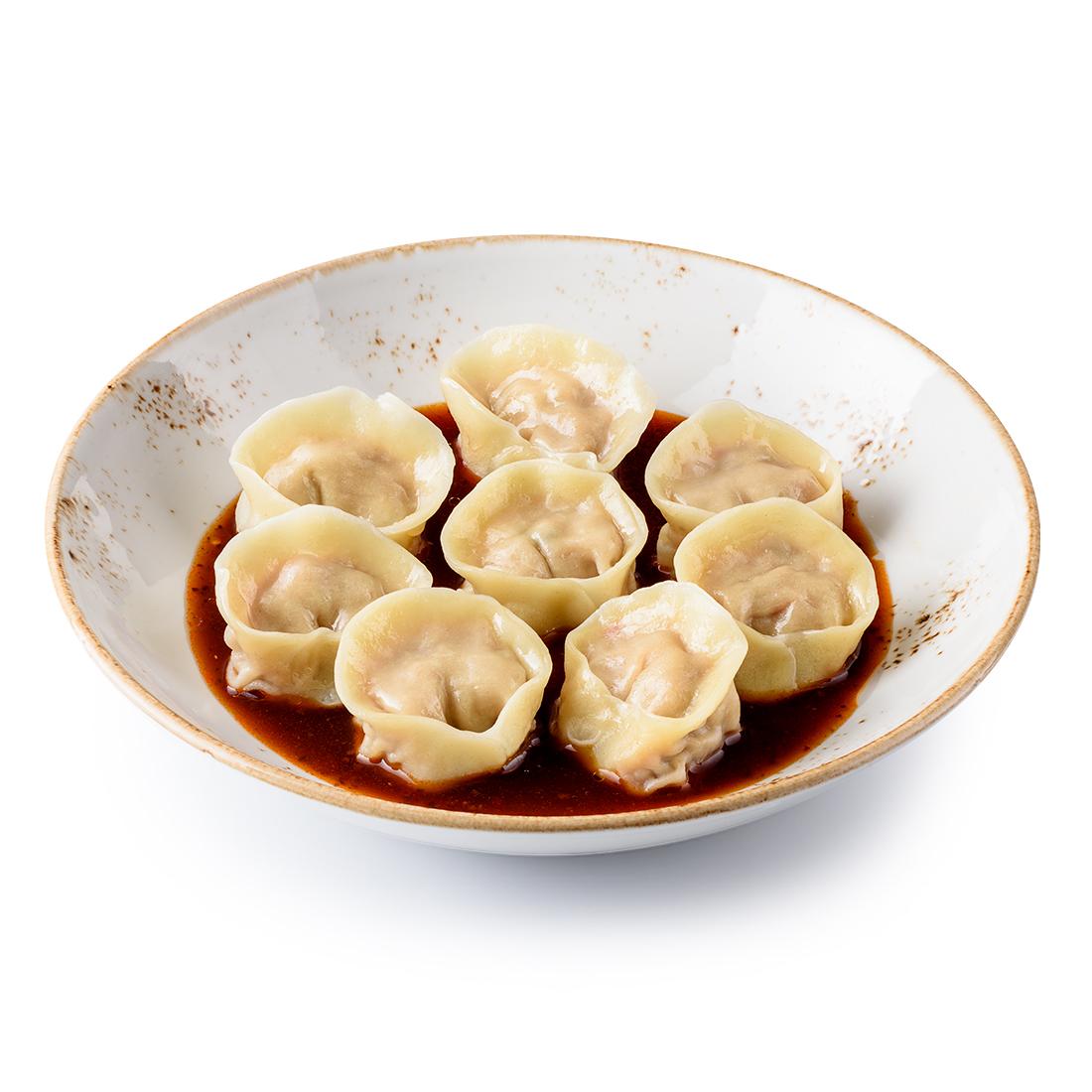 Вонтоны с уткой в китайском соусе (8 шт)