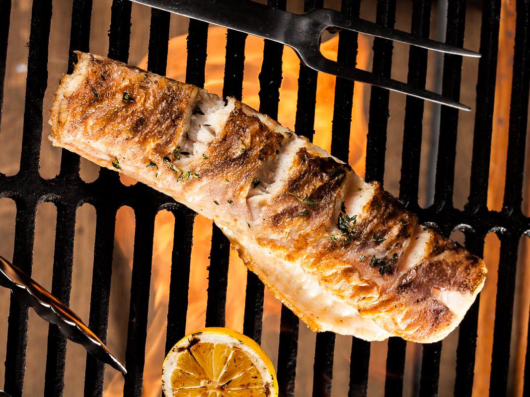 Креветочная рыба гриль