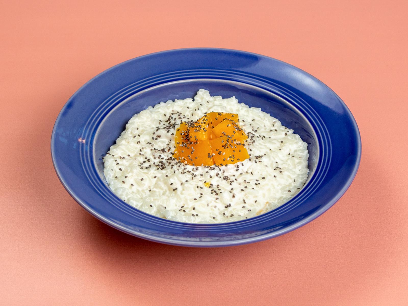 Рисовая каша с личи и манго