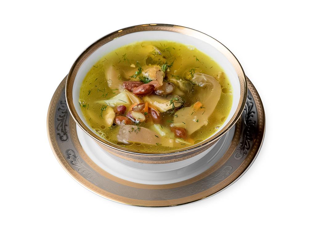 Суп с грибами и уткой