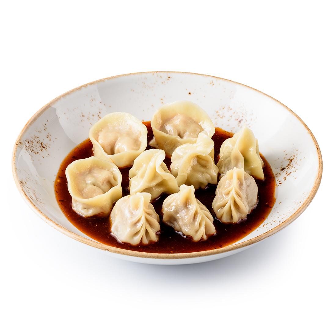 Вонтоны ассорти в китайском соусе (9 шт)