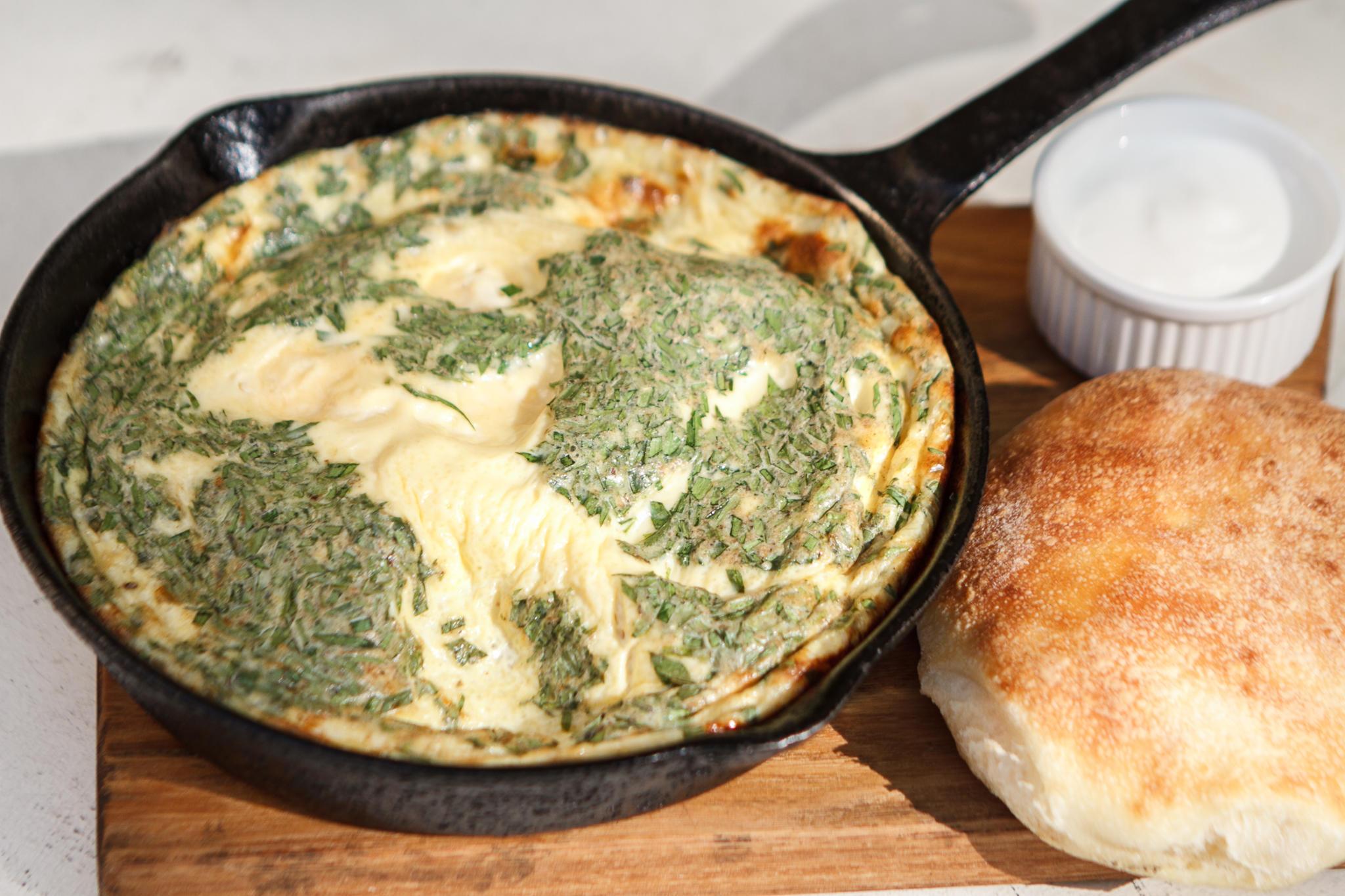 Зеленый омлет с тархуном