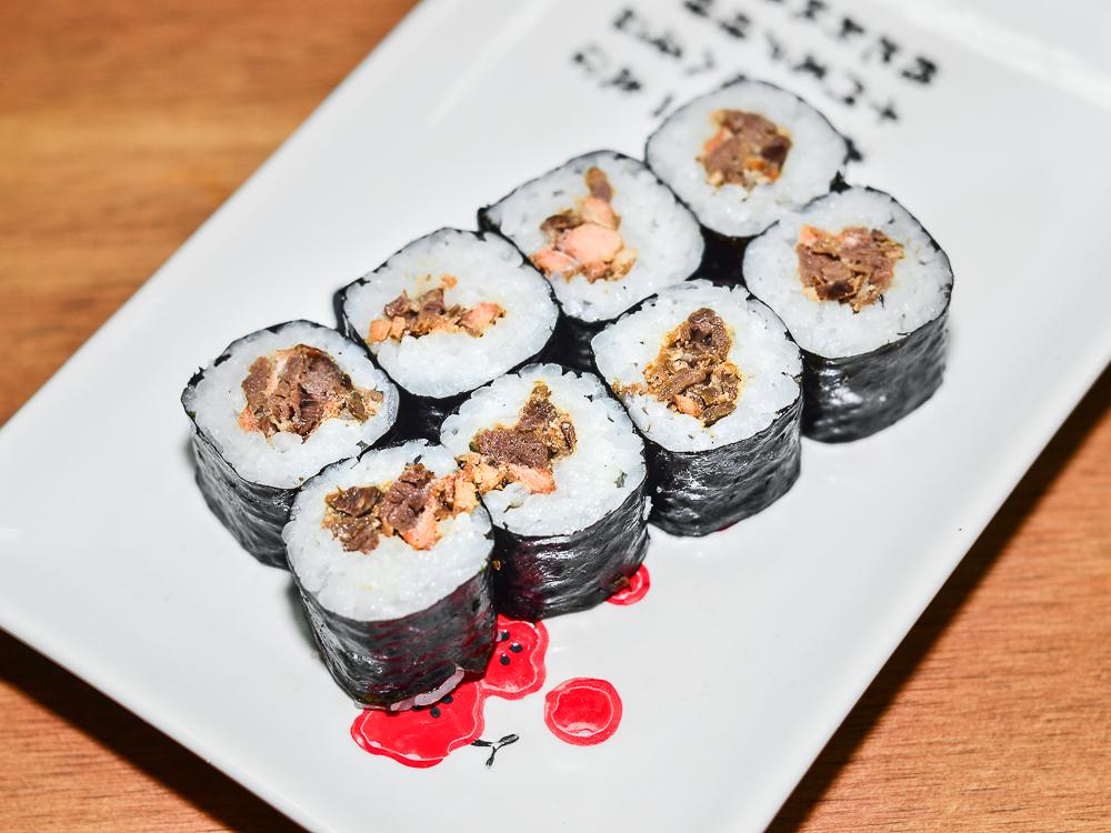 Ролл Хосомаки с лососем терияки