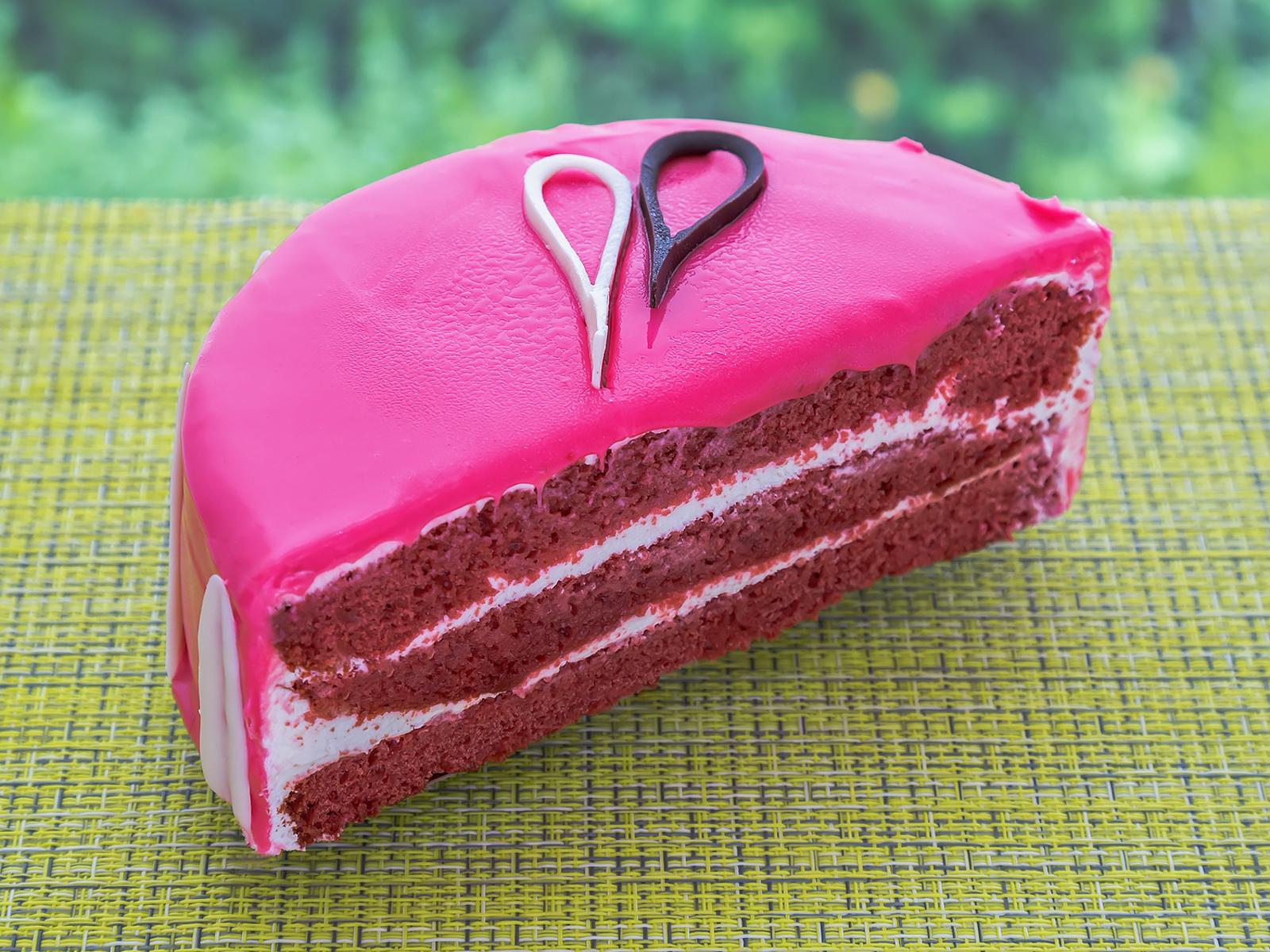 Торт Малиновый блюз половинка