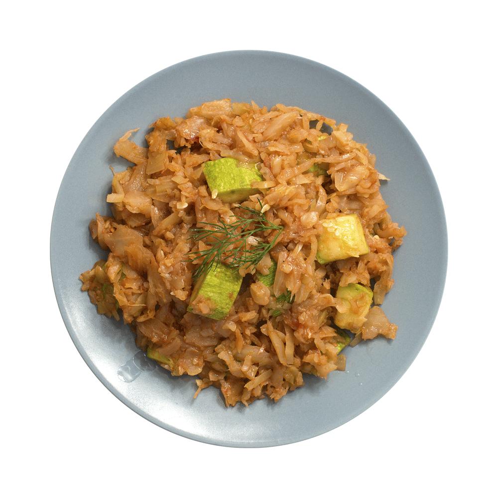 Солянка из капусты с кабачками