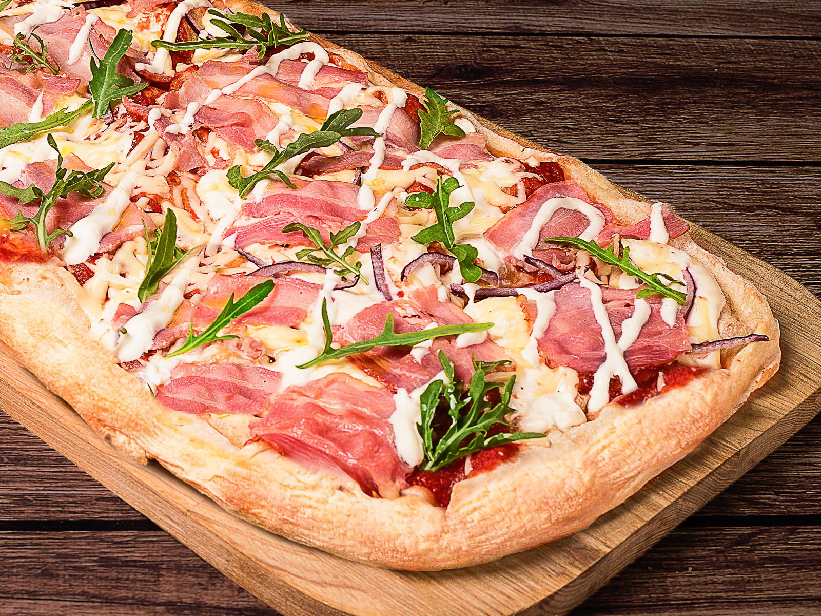 Пицца Панчетта с рукколой