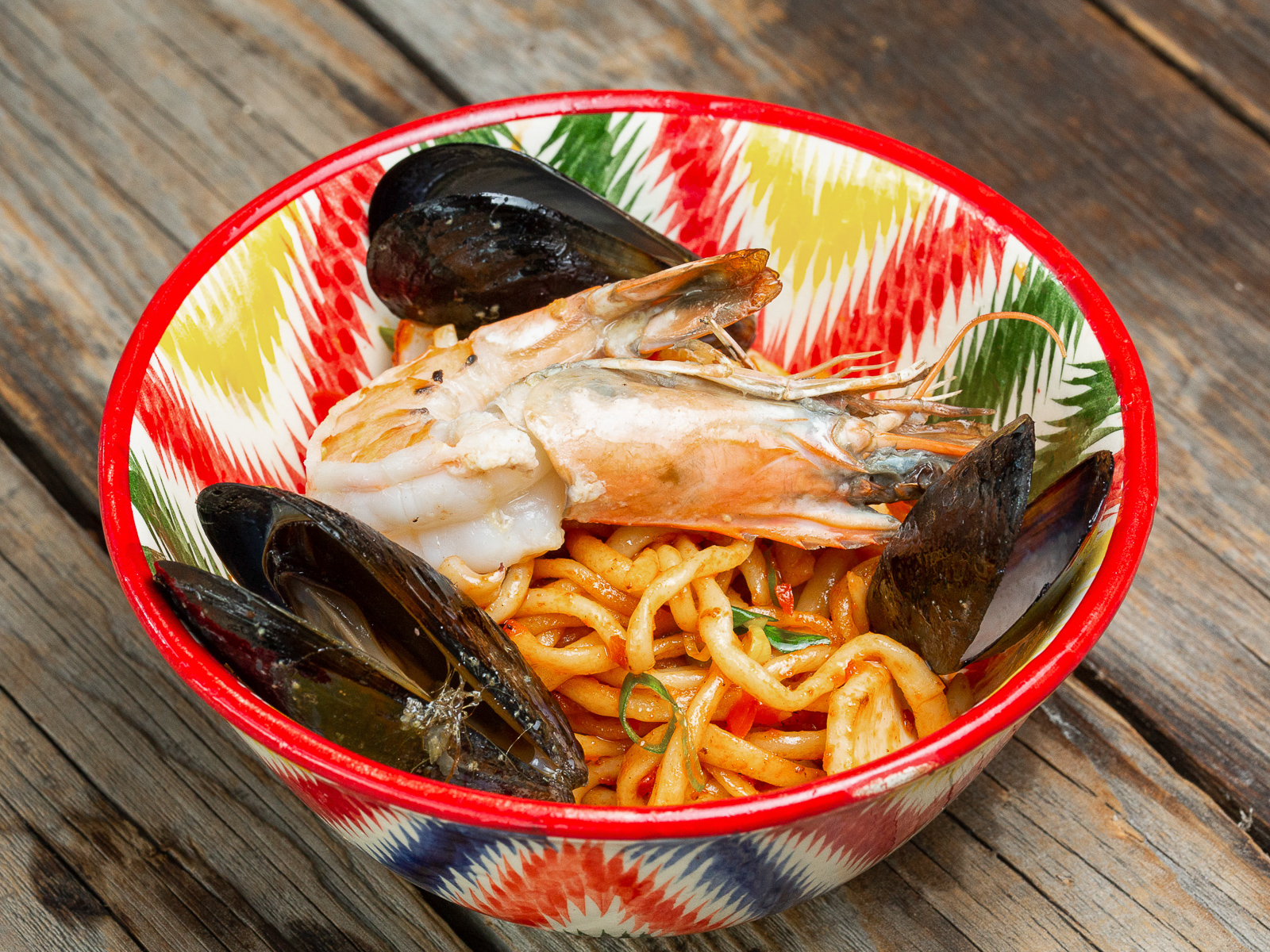 Лагман с морепродуктами