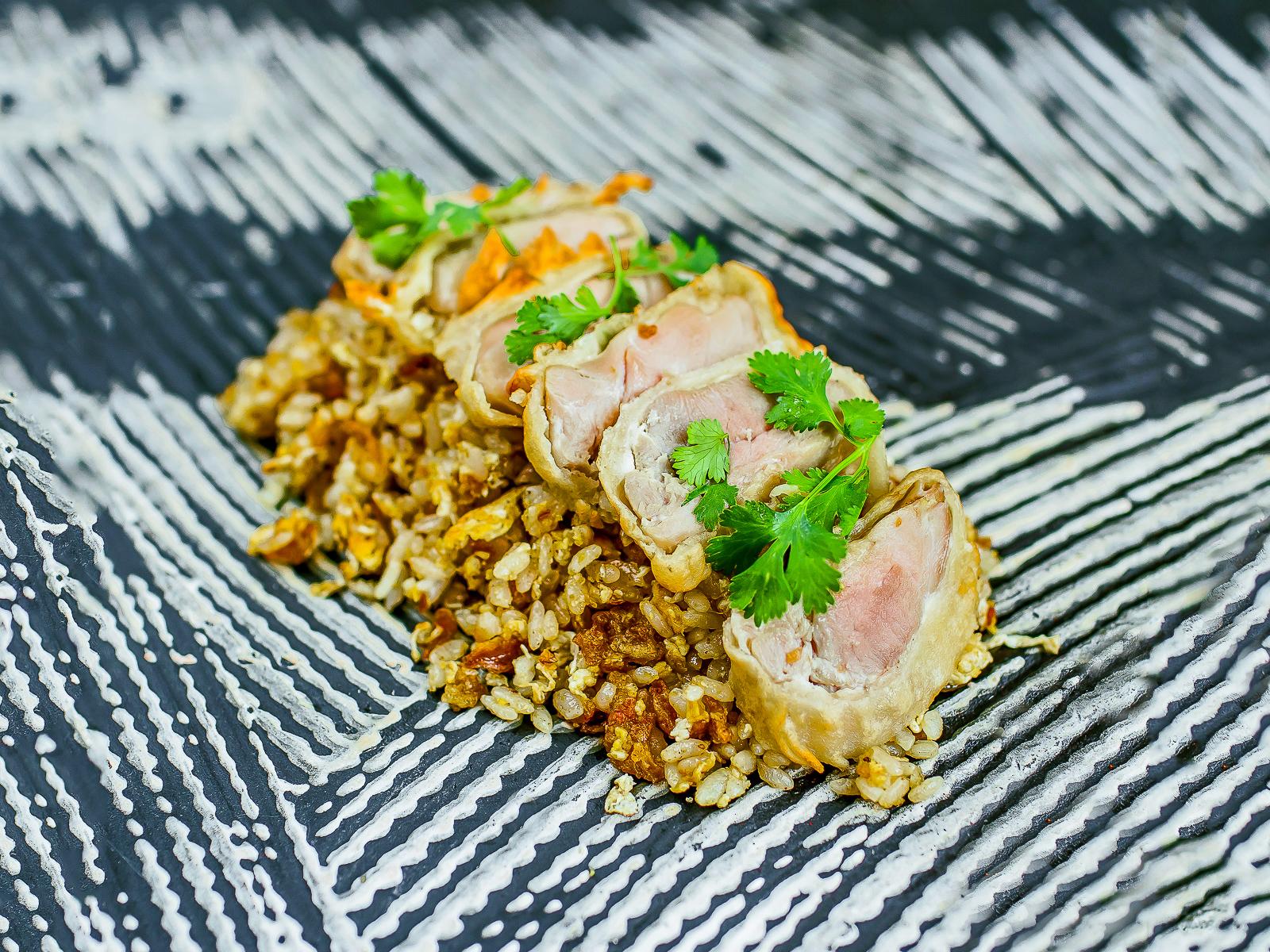 Жареный рис Пад-Тай с курицей