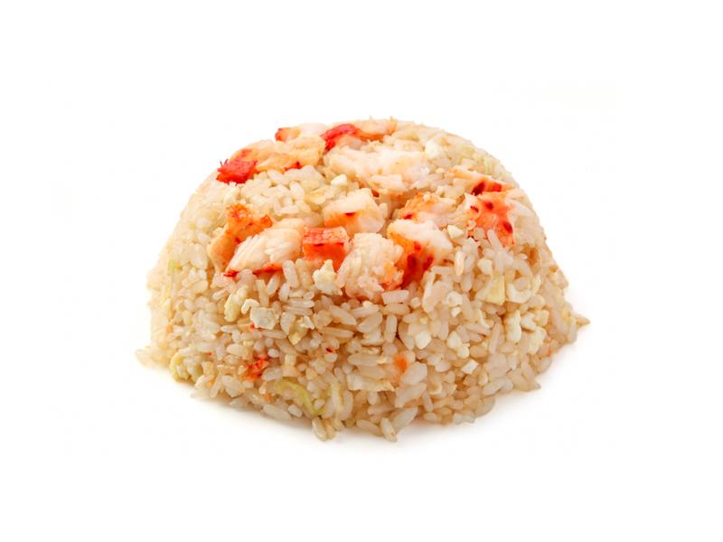 Рис жареный с крабом и яйцом