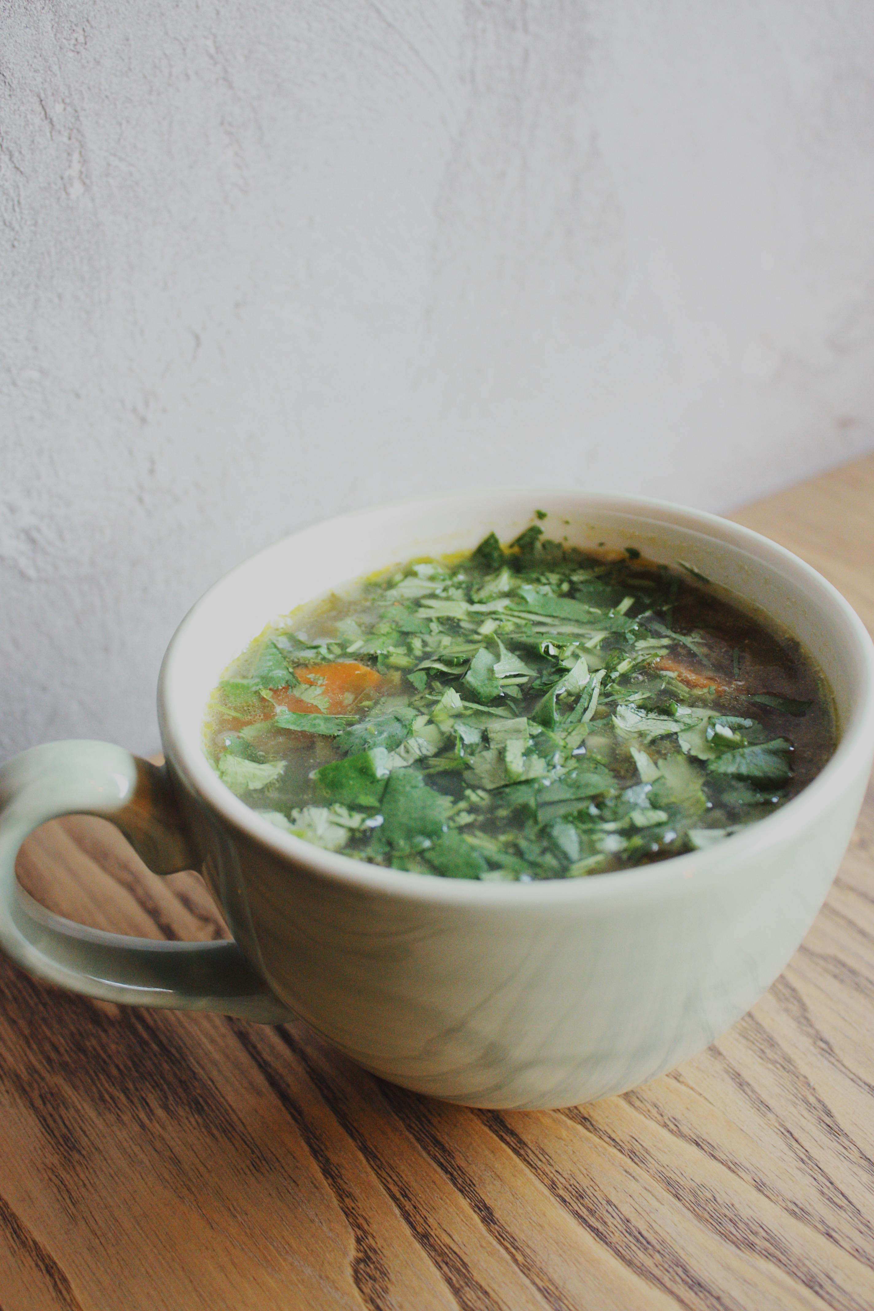 Щавелевый вегетарианский суп