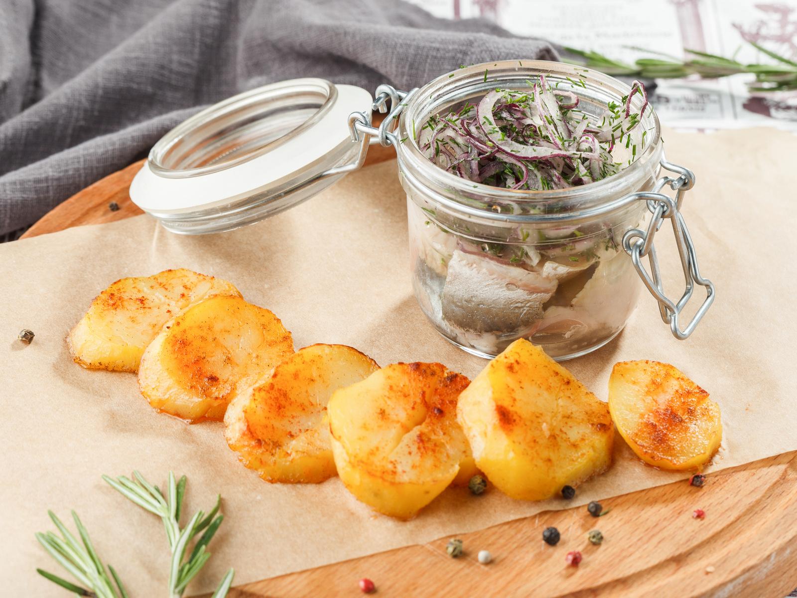 Филе сельди с картофелем
