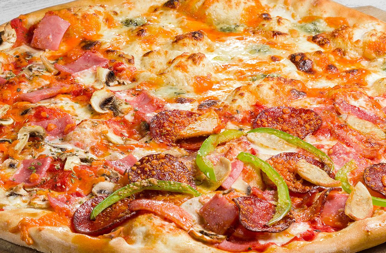 Пицца Ассорти 40 см, на тонком тесте
