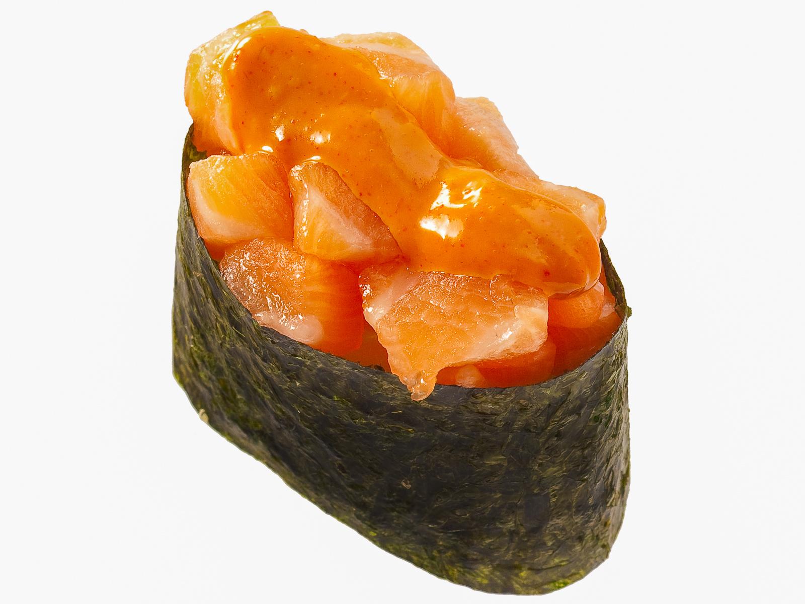 Спайс-суши с лососем