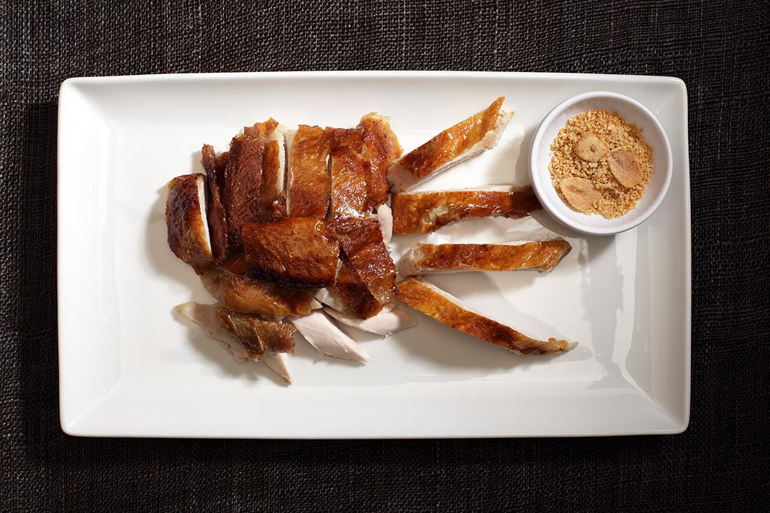 Цыпленок с золотым чесноком