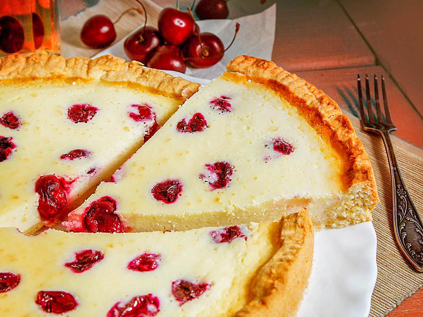 Пирог Датский вишневый