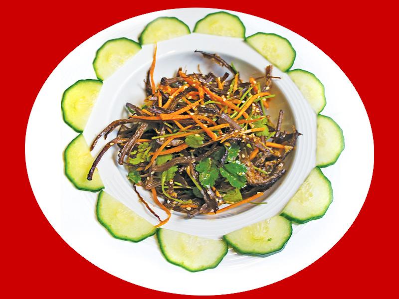 Салат из маринованной говядины