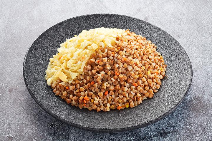 Гречка с капустой и яйцом