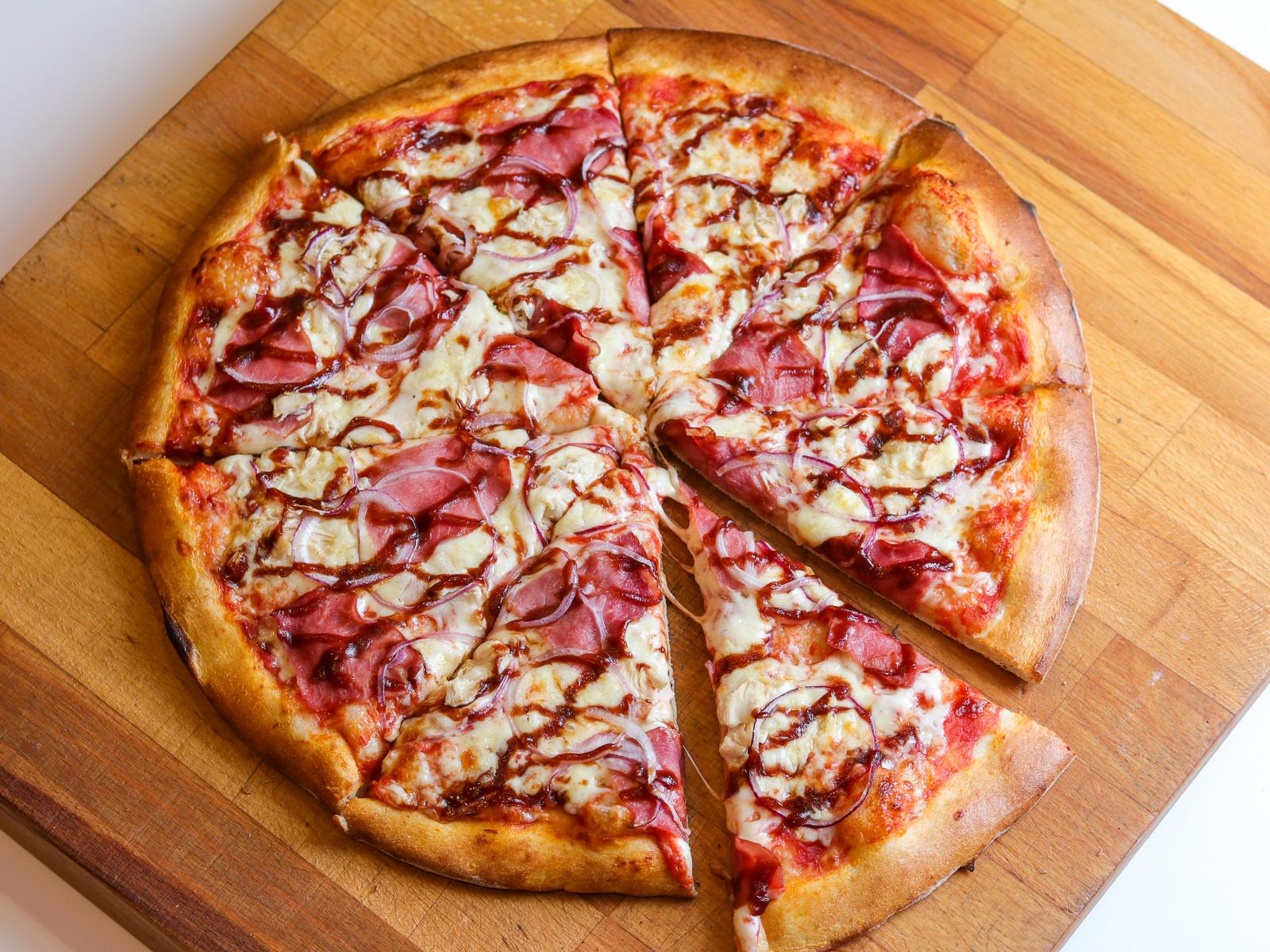 Пицца Дон Барбекю на пышном тесте