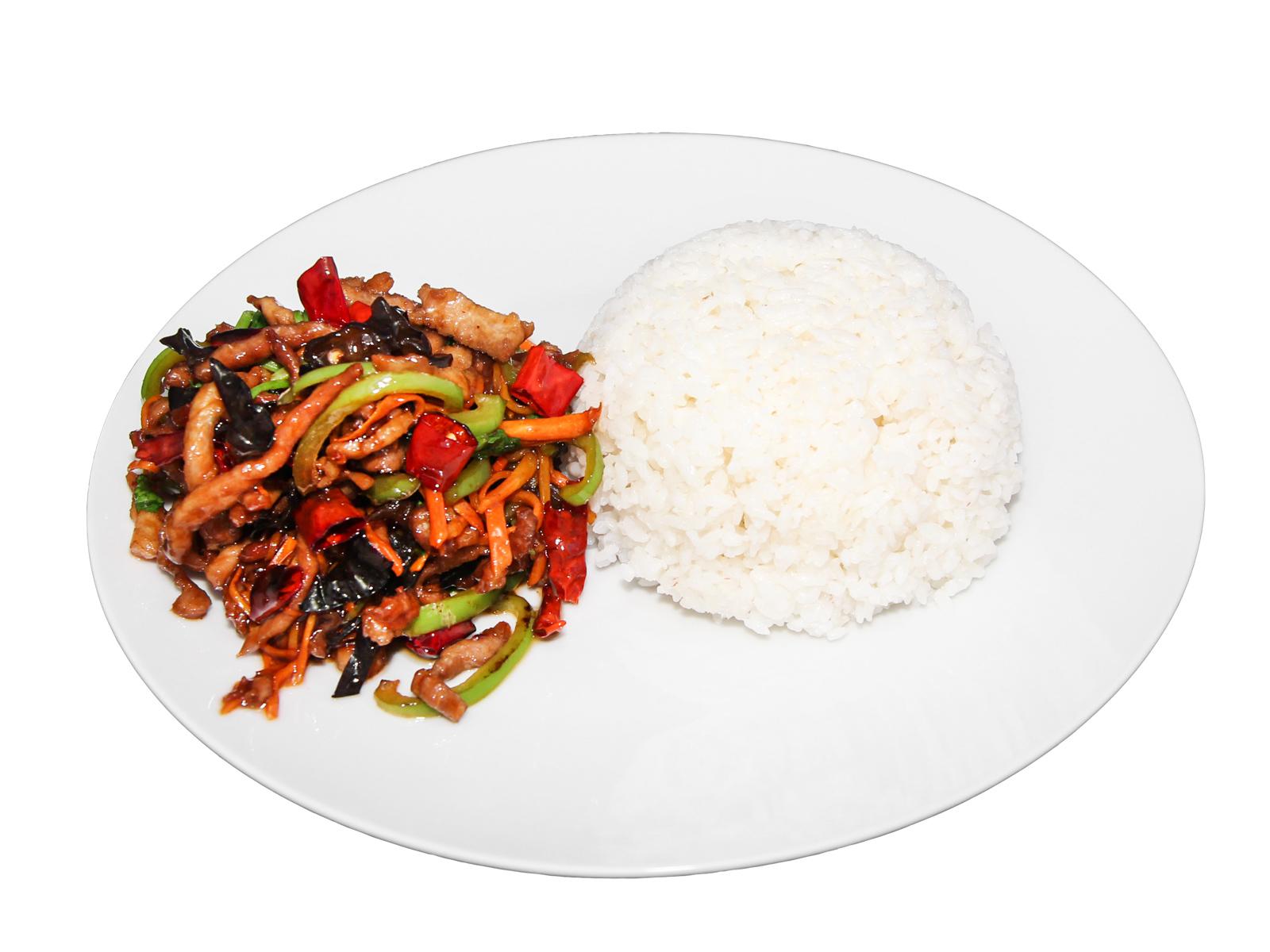 Свинина Юй Сиян в остром соусе с ароматом рыбы