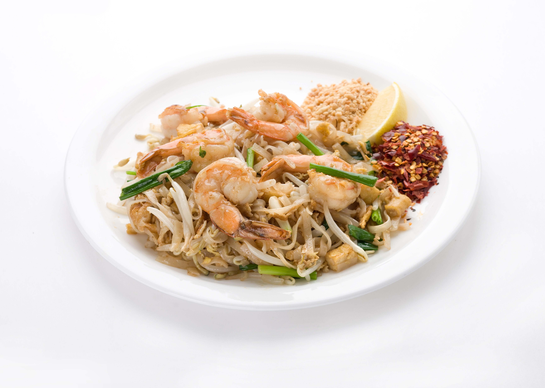 Рисовая лапша с тигровыми креветками Пад Тай Кунг