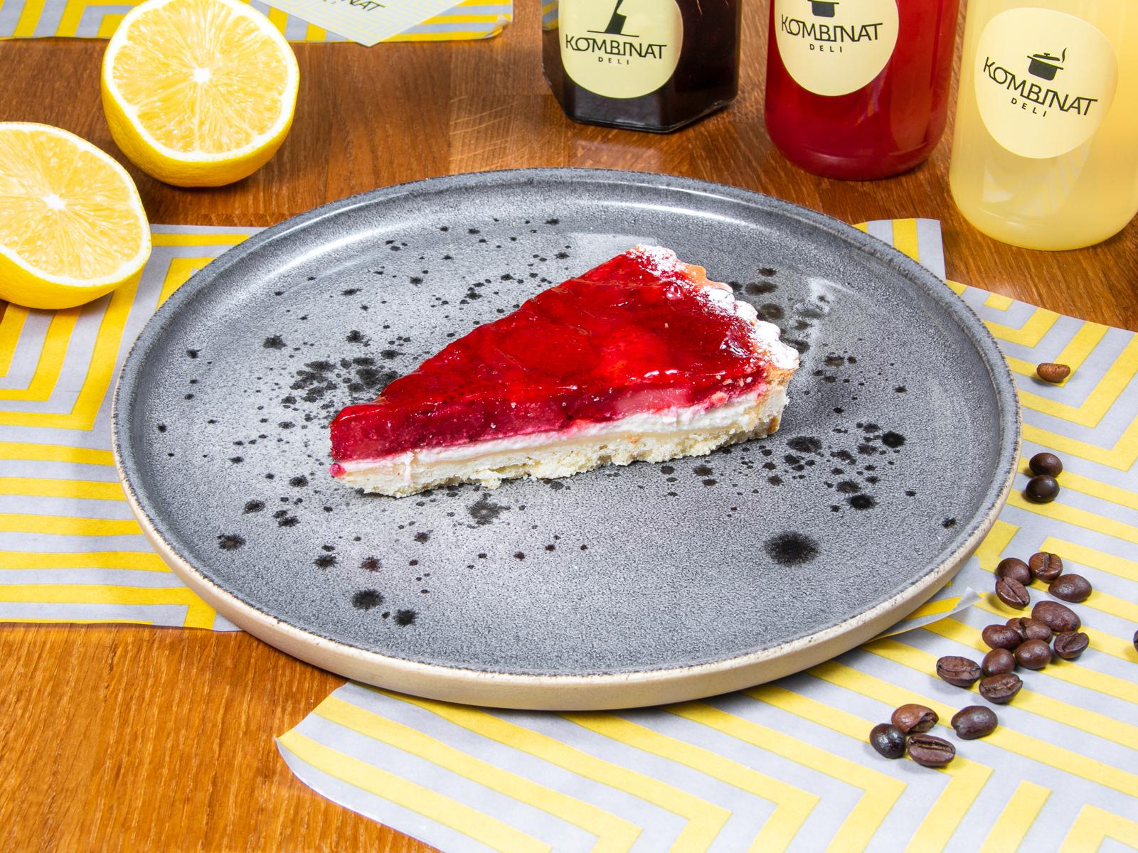 Пудинг сырный с ягодами