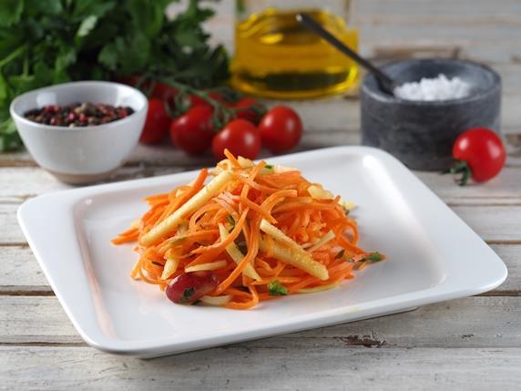 Салат морковный с цитрусовой заправкой