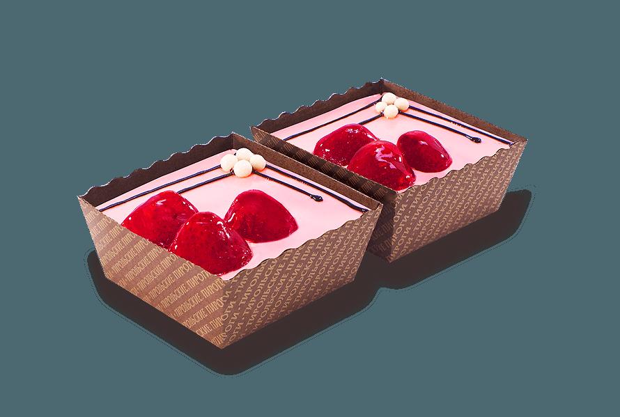 Пирожное Клубника со сливками