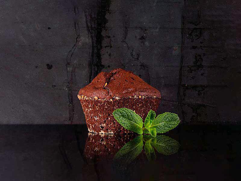 Десерт Фондан шоколадный