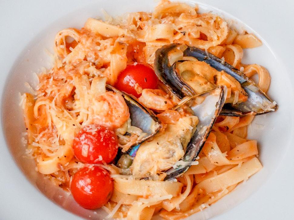 Феттуччине с морепродуктами