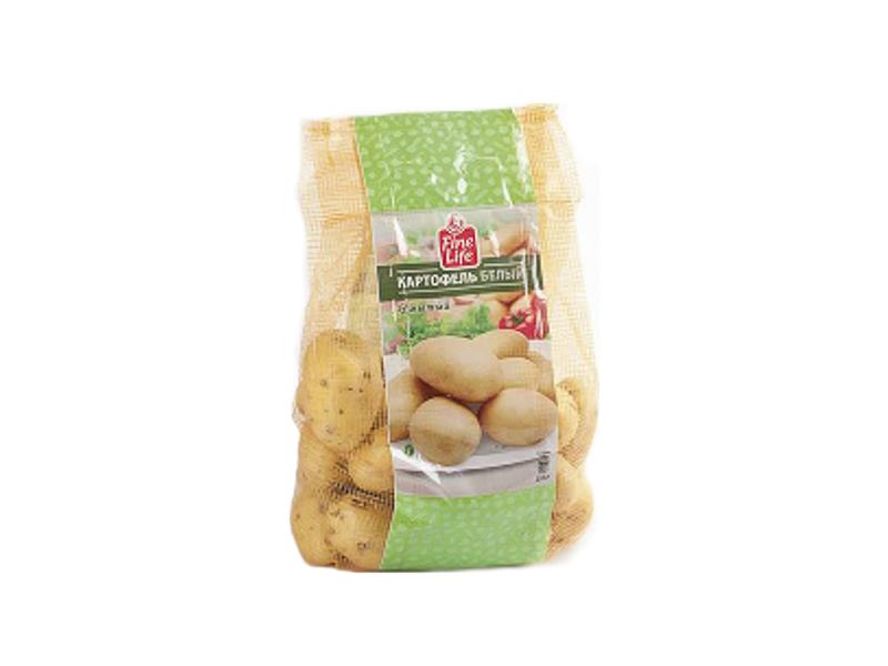 Картофель белый FINE LIFE мытый, 2,5кг