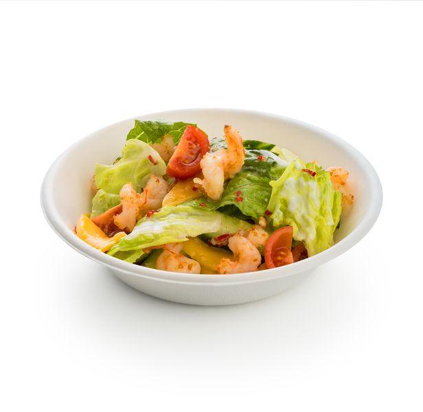 Люж-салат с креветками