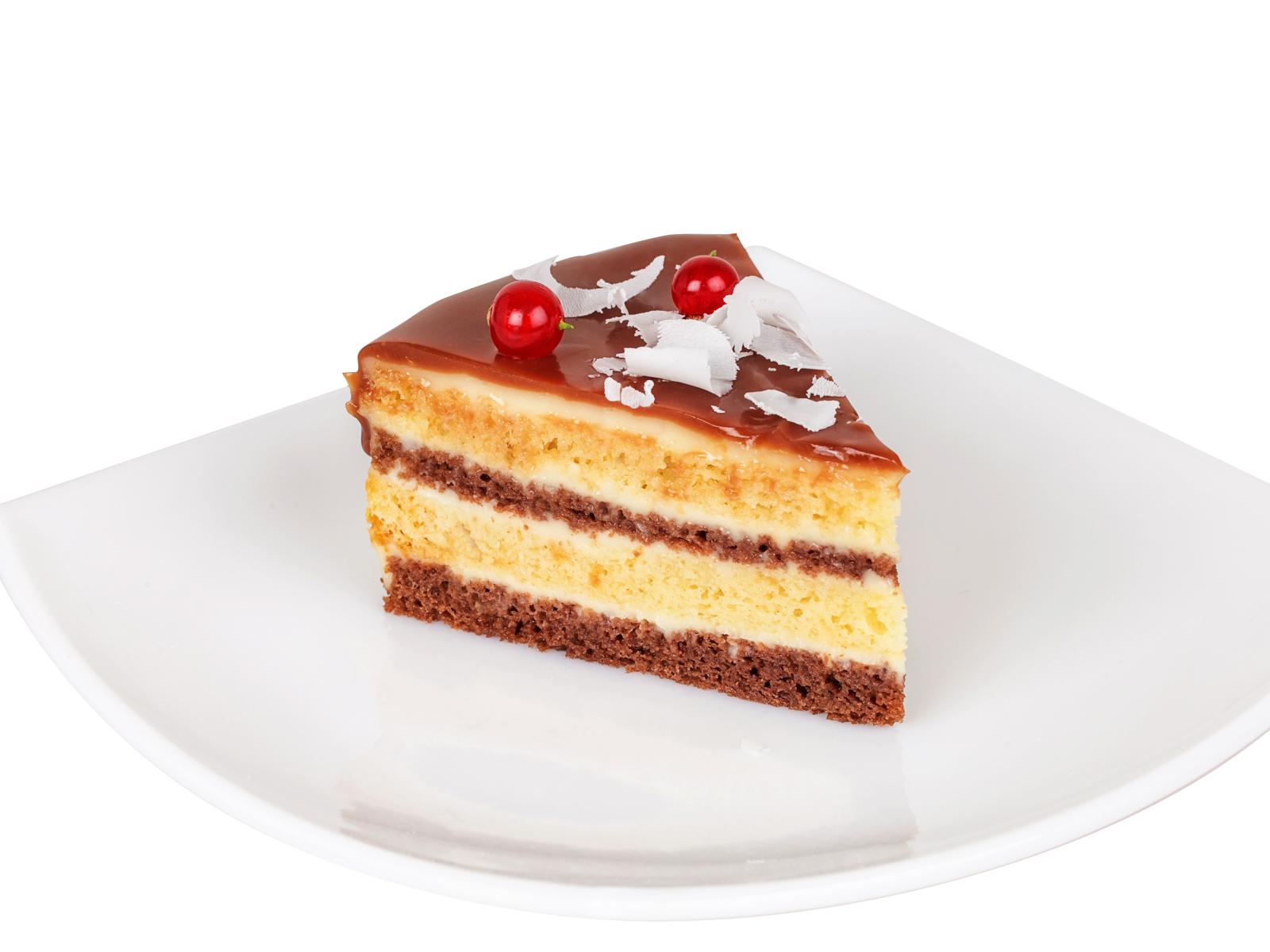 Порция торта Сметанник с шоколадом