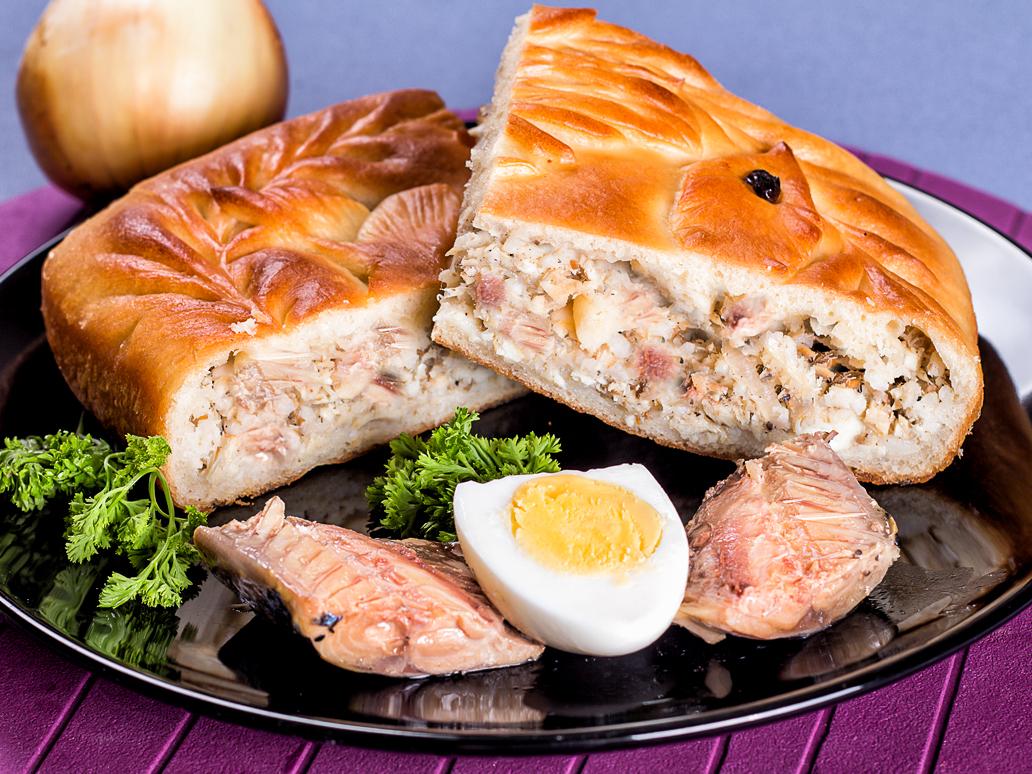 Пирог с сельдью и картофелем