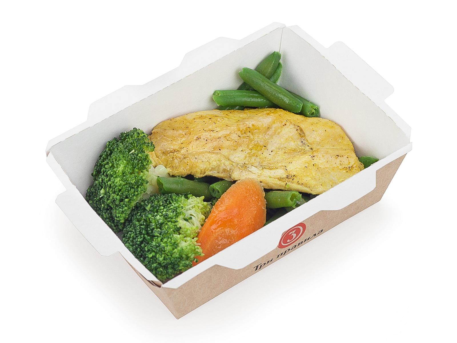 Куриная грудка с овощами а-ля спорт
