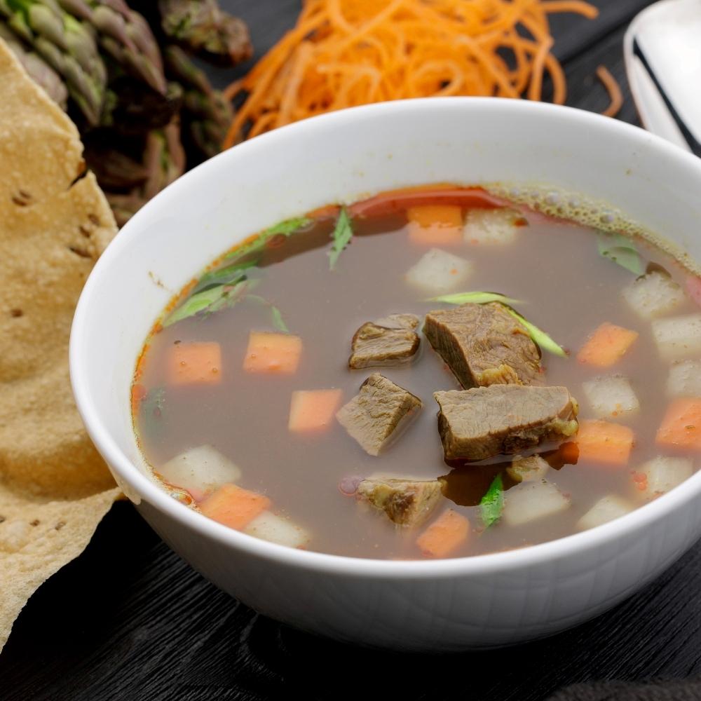 Суп с телятиной и овощами
