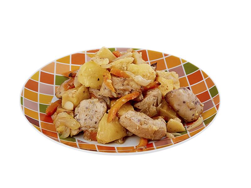 Жаркое из мяса цыпленка