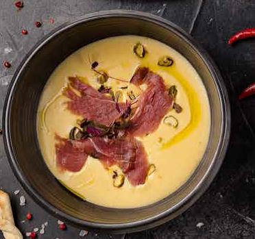 Сырный суп с пармой